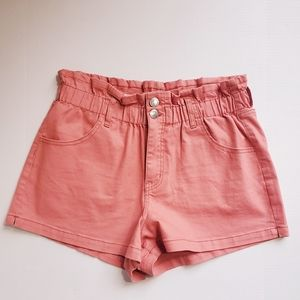 Wild Fable High Rise Paperbag Waist Shorts, L